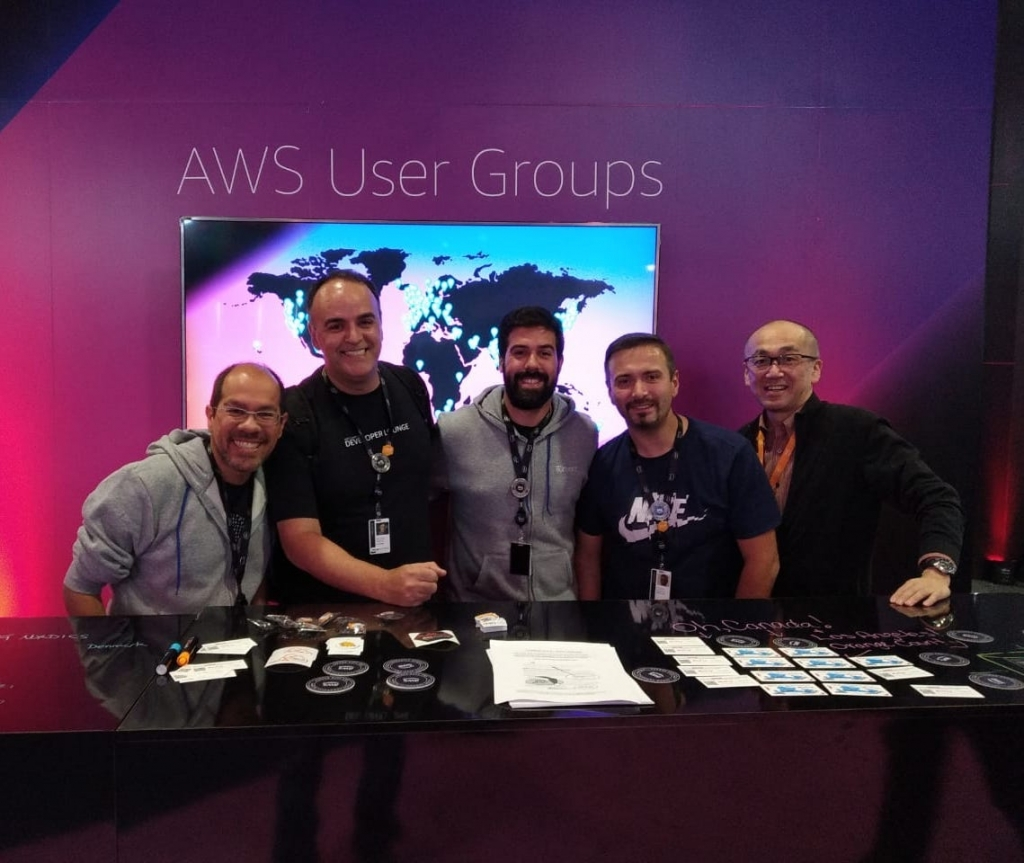Stand do AWS User Groups no AWS re:Invent 2018